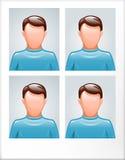 Identification photo. Of man template Royalty Free Stock Photos