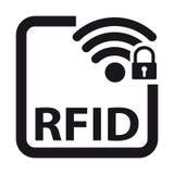 Identification RFID - illustration de radiofréquence de vecteur - d'isolement sur le blanc illustration libre de droits