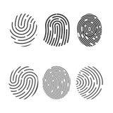 Identification symbol. Fingerprint icon. Vector illustrations. Flat design. Identification symbol. Fingerprint icon. Vector illustrations Flat vector illustration