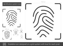 Identification system line icon. Royalty Free Stock Images
