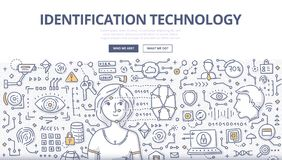 Identification Technology Doodle Concept Stock Photo