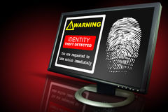 Identification theft alert Stock Photo