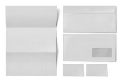 Identificazione corporativa della cancelleria dell'insieme in bianco Fotografia Stock
