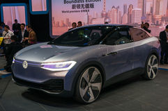 Identificazione 2017 di VW dell'esposizione automatica di Shanghai Immagini Stock Libere da Diritti