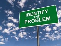 Identifichi il segnale stradale di problema immagini stock libere da diritti