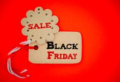 Identifichi le etichette di acquisto per acquisto online della vendita di Black Friday fotografia stock libera da diritti