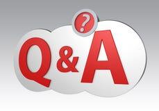 Identifier de Q&A par le chemin de coupure Image stock