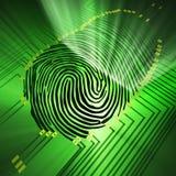 identifiera med fingeravtryck Arkivfoton