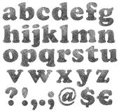 Identifiera med fingeravtryck alfabetet Arkivbild