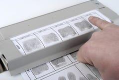 Identifiera med fingeravtryck kortet Royaltyfri Fotografi