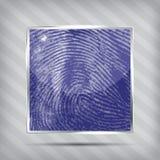 Identifiera med fingeravtryck symbolen Arkivfoto