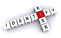 Identifiera risken stock illustrationer