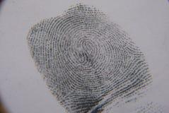 Identifierar med fingeravtryck undersökning Arkivfoton