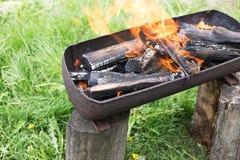 Identifiez-vous brûlés le barbecue photo libre de droits