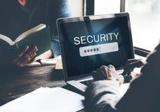 Identifiez-vous de signe de sécurité vers le haut de concept de secret de mot de passe photo stock