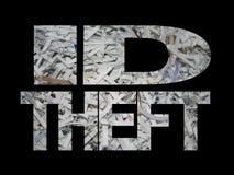 Identifikation-Diebstahl mit zerrissenem Papier Lizenzfreie Stockfotos