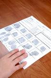 Identifikation-Karte Stockfotografie