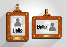 Identifikations-Karten-Schablone stock abbildung