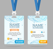 Identifikations-Karten-Schablonen-Plastikausweis Vektor Lizenzfreies Stockfoto