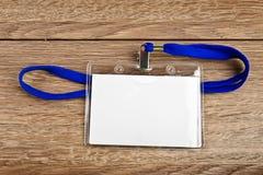 Identifikations-Kartenausweis mit Schnur Lizenzfreie Stockfotos