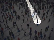 Identifique en la muchedumbre representación 3d ilustración del vector