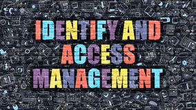 Identify and Access Management on Dark Brick Wall. Royalty Free Stock Photos