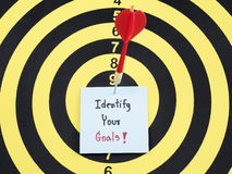 Identify your goal on dart board 1 royalty free stock photo