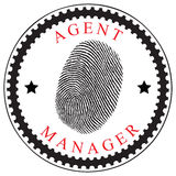 Identifying an agent or manager Royalty Free Stock Image