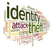 Tożsamości kradzież w słowo etykietki chmurze Zdjęcia Stock