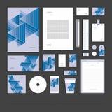 Identità corporativa astratta geometrica, insieme della cancelleria Illustrazione Vettoriale