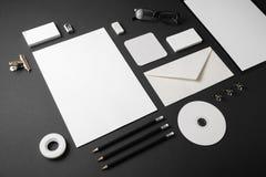 Identità corporativa in bianco fotografia stock libera da diritti