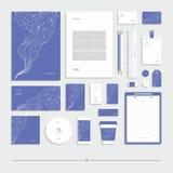 Identità corporativa delle linee su un fondo blu royalty illustrazione gratis