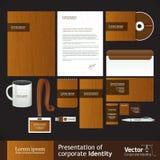 Identità corporativa di legno Fotografia Stock