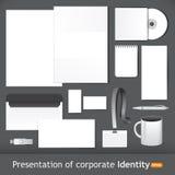 Identità corporativa per la presentazione Immagine Stock
