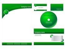 Identità corporativa verde Fotografia Stock