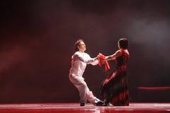 Identità del contatto- dell'occhio del dramma di ballo di mistero-tango Immagini Stock