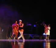 Identità di comunicazione- del dramma di ballo di mistero-tango Fotografie Stock