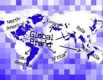 Identità di Global Brand Means Company e bollato Fotografia Stock Libera da Diritti