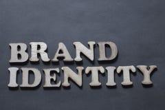 Identità di marca Concetto commercializzante di tipografia di parole di affari immagini stock