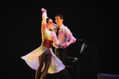 Identità dolce di sorriso- del dramma di ballo di mistero-tango Fotografia Stock Libera da Diritti