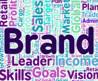 Identità e marche di Brand Word Means Company Fotografia Stock Libera da Diritti