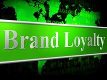 Identità e supporto di Loyalty Brand Means Company Fotografie Stock Libere da Diritti