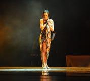 Identità sola della donna- del dramma di ballo di mistero-tango Immagini Stock Libere da Diritti