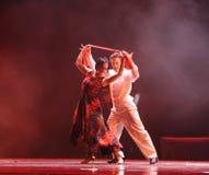 Identità splendida dei vestiti- del dramma di ballo di mistero-tango Fotografie Stock Libere da Diritti