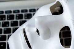 Identität auf Konzept der sozialen Netzwerke, anonymes souplantation lizenzfreie stockfotografie