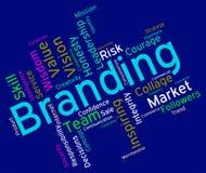 Identität Branding Words Shows Company und eingebrannt Stockbild