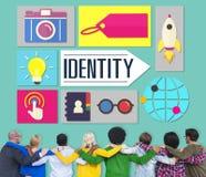 Identitäts-Branding-Marken-Marketing-Geschäfts-Konzept Lizenzfreies Stockbild