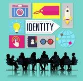 Identitäts-Branding-Marken-Marketing-Geschäfts-Konzept Stockfotografie
