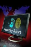 Identitätsdiebstahl-Druck Warnung Stockbild