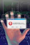 Identitätsdiebstahl-Finger Warnung Stockbilder